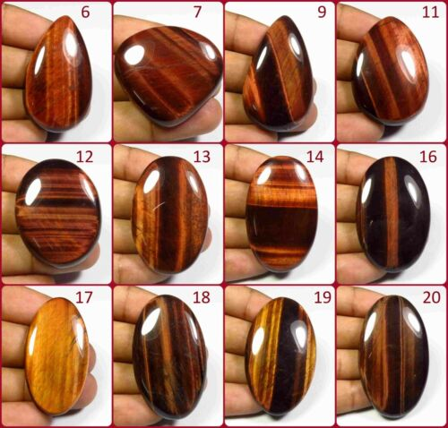 NATURAL RED TIGER EYE CABOCHON LOOSE CHATOYANT GEMSTONE FREE SHIPPING IL-A