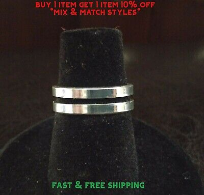 New Toe Ring Silver Plated - Polished Double Band - USA Seller Polished Toe Ring