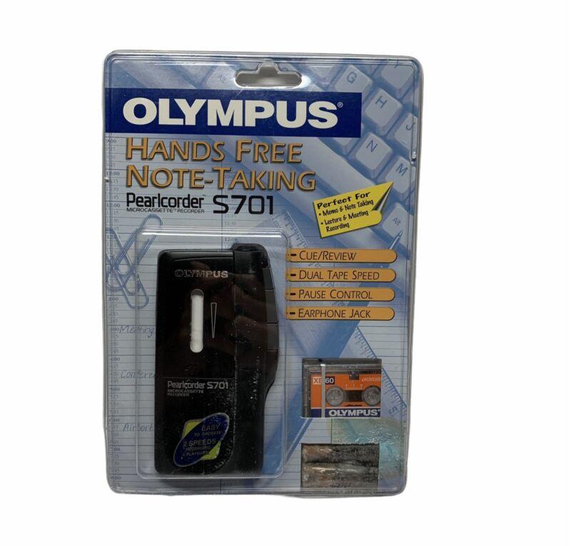 Olympus Pearlcorder S701 Handheld MicroCassette Voice Recorder NEW,READ DESCRIP.