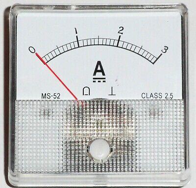 Dc Panel Mount Meter 3 Amp Dc