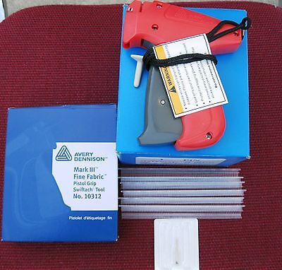10312 Avery Dennison Fine Fabric Price Tag Gun 10000 14 Ext. Fine Clear Barbs