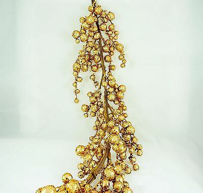 PACK OF 2, 4' GOLD Glitter Sparkle Holiday Garland Decor Centerpiece ()