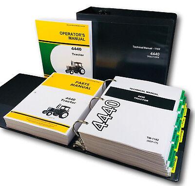 Service Parts Operators Manual Set For John Deere 4440 Tractor Tech. Repair Shop