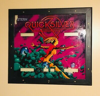 RARE Vintage 1980 Original Stern Quicksilver Pinball Machine Back Glass