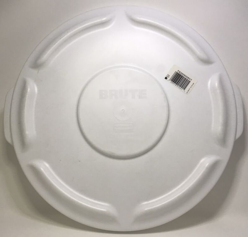 Rubbermaid Commercial FG260900WHT Brute Round Container Lid, 10 Gallon 2609