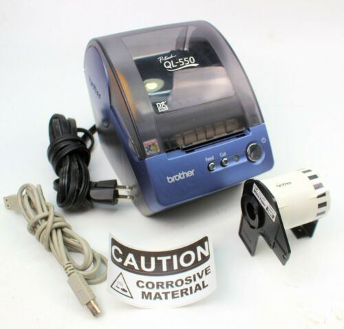 Brother P-Touch QL-550 Thermal Label Printer w/ USB Cable & Labels