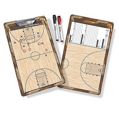 GoSports Basketball Coaches Board with Two Dry Erase - Basketball Dry Erase Boards