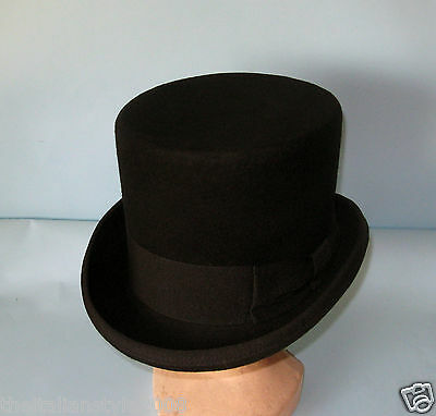 CAPPELLO A CILINDRO NERO TOP HAT ZYLINDER HUT