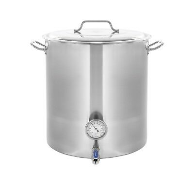 CONCORD Stainless Steel Home Brew Kettle Brewing Stock Pot Beer Wine Set