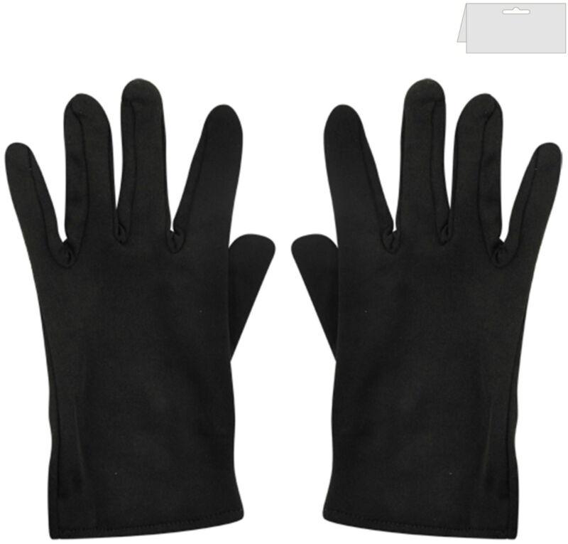 Mens & Ladies Clown Magician Scream Santa Short Fancy Dress Gloves Black ,white