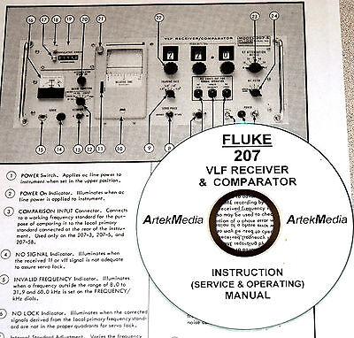 Fluke 207 Vlf Receiver Operating Service Manual
