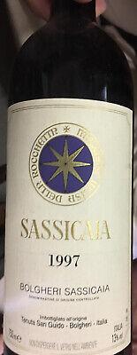 Vino Sassicaia 1997, tenuta Bolgheri