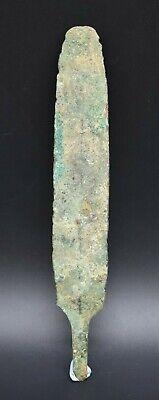 Ancient Greek bronze spe@r head 1st millennium BC