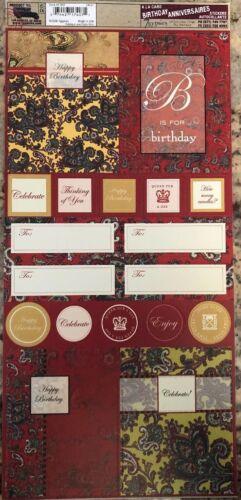 7 Gypsies Embellishment HAPPY BIRTHDAY ANNIVERSARIES Stickers Scrapbook - $1.99