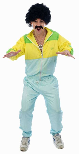 1980s 80s Shell Suit Scouser Rapper Stag Funny Fancy Dress Costume NEW S-M P7247