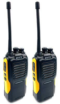 HYT POWER446  WALKIE-TALKIE TWO WAY RADIOS  WITH G SHAPE EARPIECES x 2