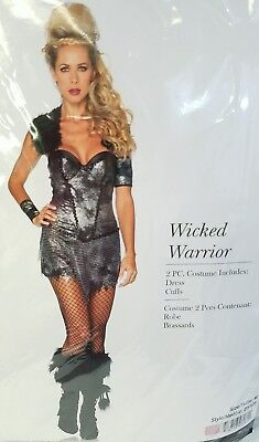 Viking Wicked Warrior Leg Avenue 2 piece Women Lady Adult Costume Medium New
