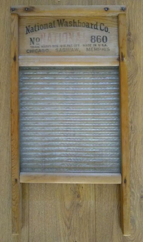 """Vintage National Washboard Co. Model 860 """"The Glass King"""" Collectible Antique"""