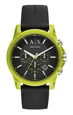 ARMANI EXCHANGE Men's Outer Banks Chronograph Black Silicone Strap Watch AX1337