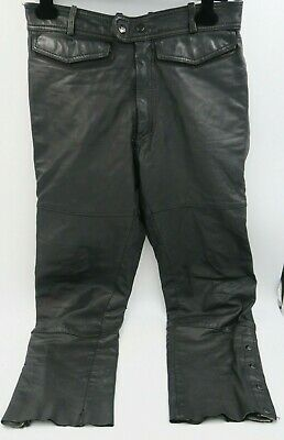 Harley-Davidson Hein Gericke Men's Black Leather Motorcycle Pants Size 34