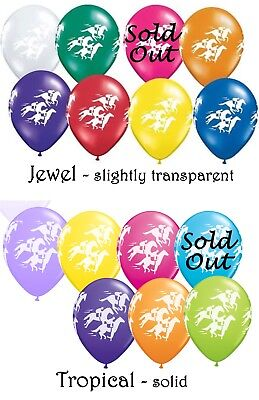 Melbourne Cup Spring Racing - Race Horses Printed Latex Balloon 2 for $1.50 28cm for sale  Shipping to Canada
