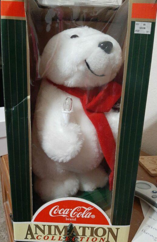 Coca- Cola - Animation Collection Polar Bear in box collection vintage 1996