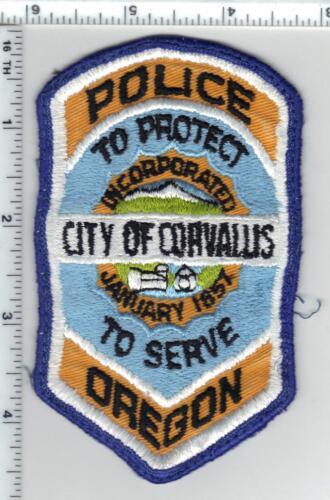 City of Corvallis Police (Oregon) Uniform Take Off Shoulder Patch 1980