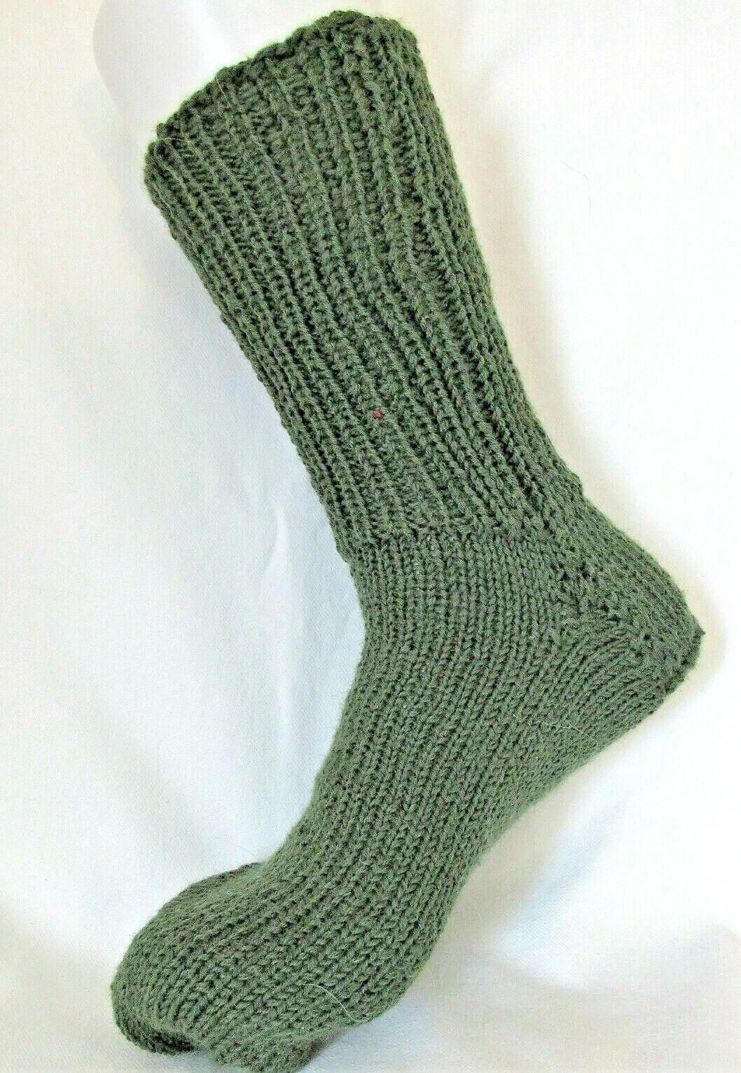 Woll-Socken handgestrickt Gr.43-44 Grün 75% Schurwolle