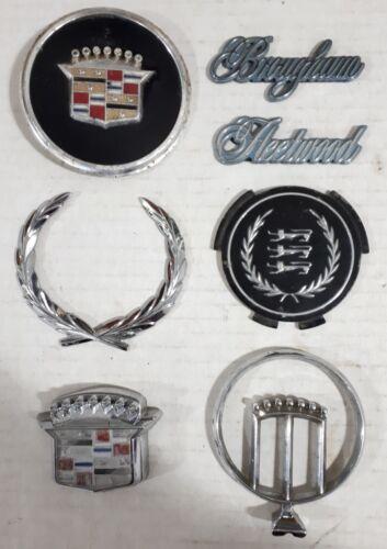 Lot Of 7 Vintage Cadillac Emblems 1970s 1990s Fleetwood Brougham