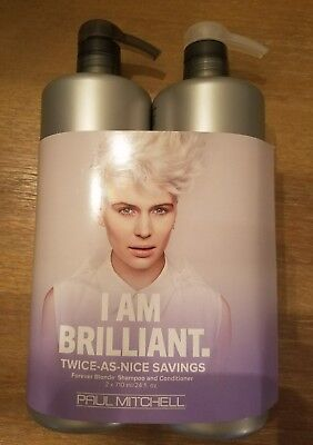PAUL MITCHELL FOREVER BLONDE SHAMPOO AND CONDITIONER DUO 24OZ