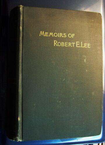 MEMOIRS OF ROBERT E. LEE by A.L. Long 1887