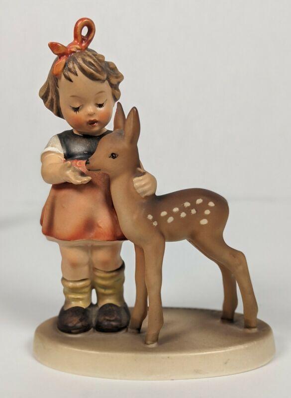 Vintage Goebel Hummel Girl w/ Deer,  Friends #136/1, 1947 Western Germany TMK4