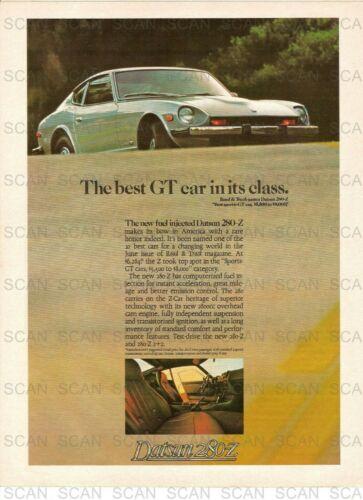 1975 Datsun 280-Z Vintage Magazine Ad