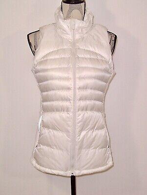 Lululemon Down For A Run Vest II  - White Goose Down 800 fill Size 10