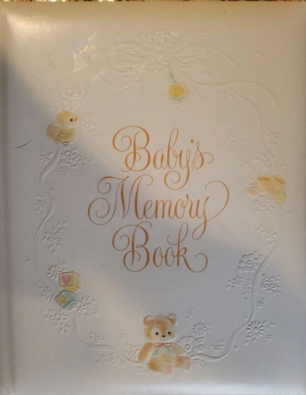 VINTAGE HALLMARK BABY/S MEMORY BOOK KEEPSAKE ALBUM 1983 25 PAGES - NEW