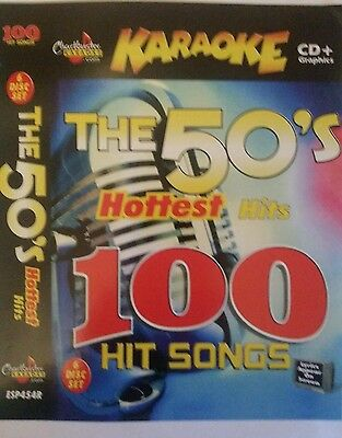 CHARTBUSTER KARAOKE CDG   THE 50s HOTTEST HITS   6 DISC SET 100 SONGS