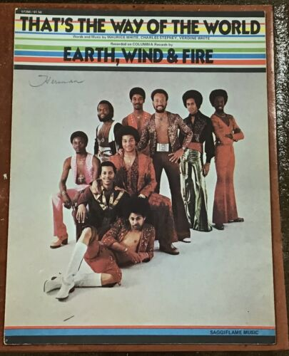 Vtg EARTH WIND & FIRE That's The Way Of The World SHEET MUSIC Maurice White Soul
