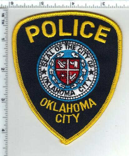 Oklahoma City Police (Oklahoma) Black Background Shoulder Patch