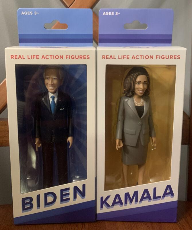 2020 Kamala Harris + Joe Biden FCTRY Action Figures  Presidental Pair NIB RARE