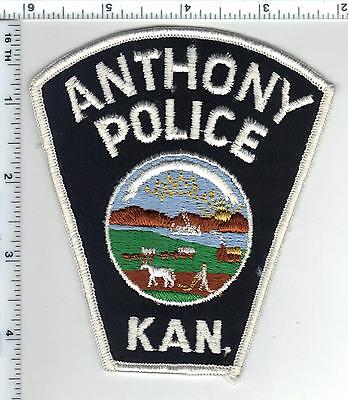 Anthony Police (Kansas) Shoulder Patch - new style from the 1980's