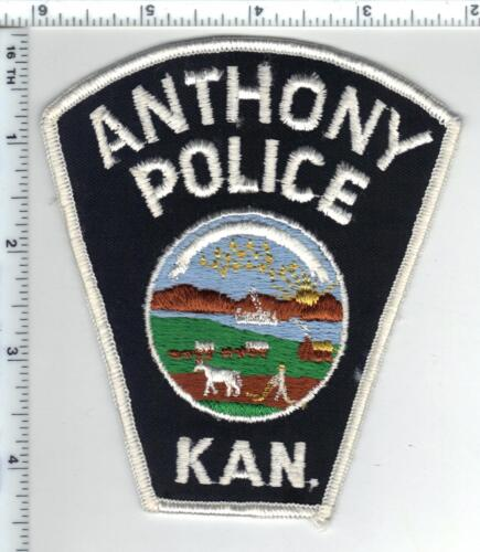 Anthony Police (Kansas) Shoulder Patch - new style from the 1980