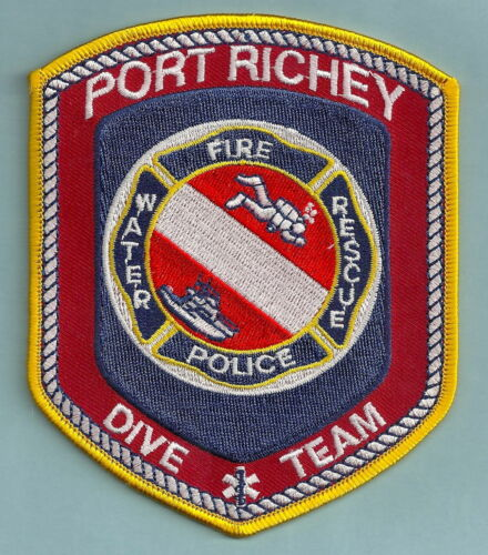 PORT RICHEY FLORIDA POLICE FIRE DIVE RESCUE TEAM SHOULDER PATCH