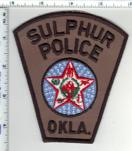 Sulphur Police (Oklahoma) Shoulder Patch from the Early 1980