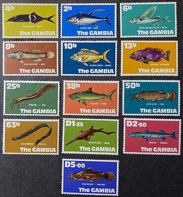 GAMBIA  253 - 265  Beautiful  Mint  Set  FISH