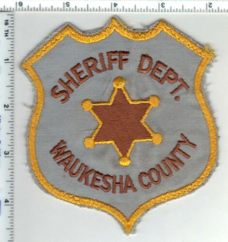 Waukesha County Sheriff (Wisconsin) 1st Issue Uniform Take-Off Shoulder Patch