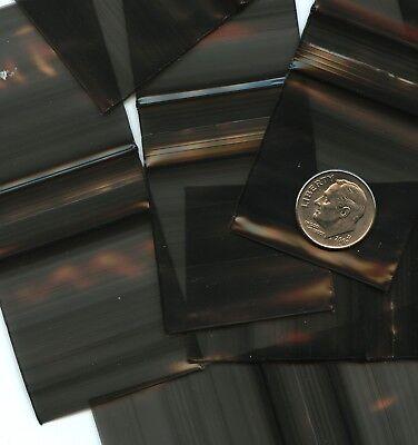 200 Black Apple Baggies 1.5 X 1.5 Mini Ziplock Bags 1515