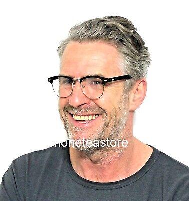 Matte Black Frames Clear Lens Clubmaster New Vintage Style Glasses Geek Nerd