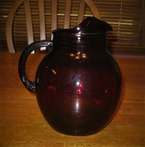 Vintage Anchor Hocking Royal Ruby Red Pitcher