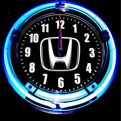 HONDA LOGO - 11 Blue Neon Wall Clock