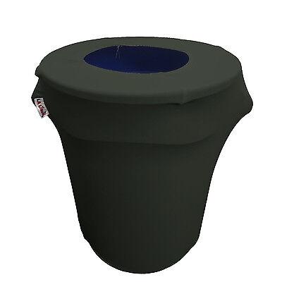 LA Linen Stretch Spandex Trash Can cover 32-Gallon Round. Ma